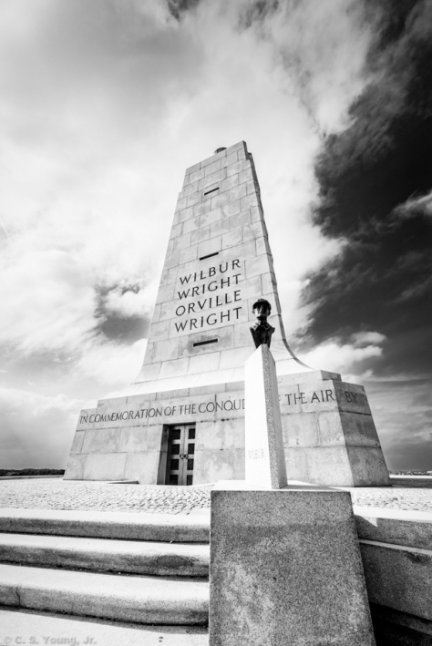 Wright Brothers National Memorial, Wilbur Composition